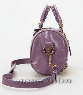 Balenciaga Giant Mini Twiggy Bag With Eggplant Purple Leather Small Golden Nails_2