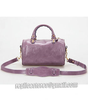 Balenciaga Giant Mini Twiggy Bag With Eggplant Purple Leather Small Golden Nails_3