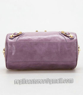 Balenciaga Giant Mini Twiggy Bag With Eggplant Purple Leather Small Golden Nails_4