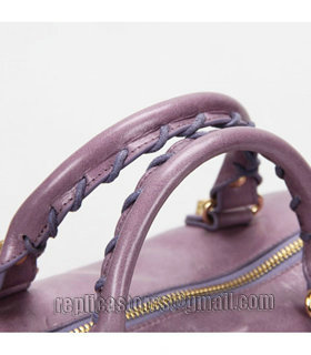 Balenciaga Giant Mini Twiggy Bag With Eggplant Purple Leather Small Golden Nails_5