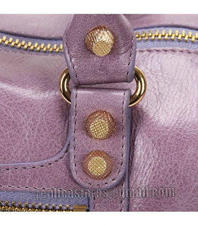 Balenciaga Giant Mini Twiggy Bag With Eggplant Purple Leather Small Golden Nails_6