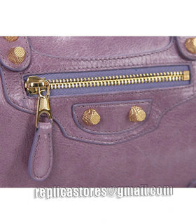 Balenciaga Giant Mini Twiggy Bag With Eggplant Purple Leather Small Golden Nails_7
