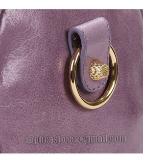 Balenciaga Giant Mini Twiggy Bag With Eggplant Purple Leather Small Golden Nails_8