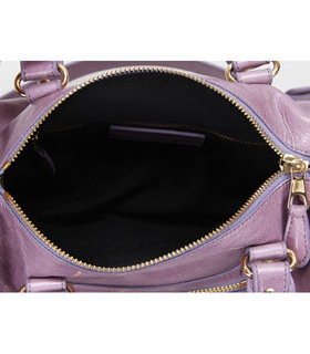 Balenciaga Giant Mini Twiggy Bag With Eggplant Purple Leather Small Golden Nails_9