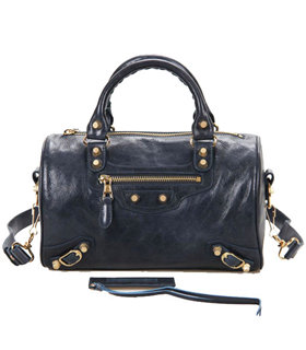 Balenciaga Giant Mini Twiggy Bag With Sapphire Blue Leather Small Golden Nails