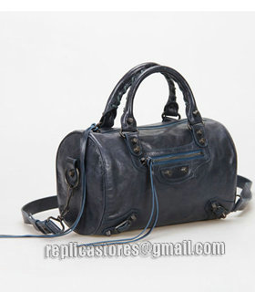 Balenciaga Giant Mini Twiggy Bag With Sapphire Blue Leather Small Nails-1