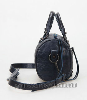 Balenciaga Giant Mini Twiggy Bag With Sapphire Blue Leather Small Nails-2