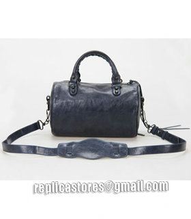 Balenciaga Giant Mini Twiggy Bag With Sapphire Blue Leather Small Nails-3