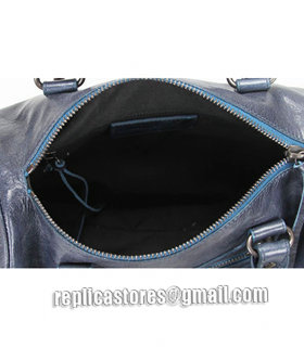 Balenciaga Giant Mini Twiggy Bag With Sapphire Blue Leather Small Nails-8