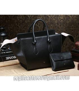 Celine Tie Knot Phantom Small Bag With Black Original Leather 1