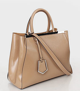 Fendi 2jours Apricot Patent Leather Tote Bag