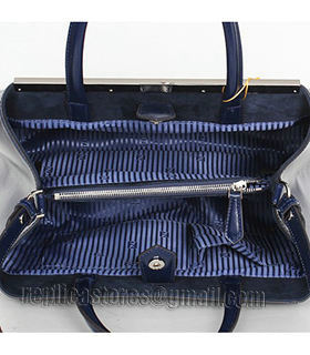 Fendi 2jours Blue Patent Leather Small Tote Bag-4