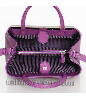 Fendi 2jours Purple Leather Small Tote Bag-4