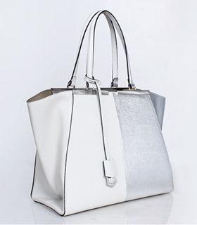 Fendi 3Jours White Cross Veins/Silver Original Leather Medium ...