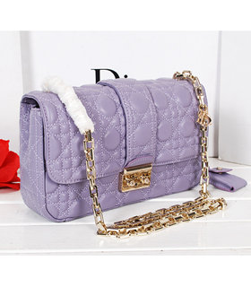 Christian Dior Lavender Purple Original Lambskin Leather Small Chains Bag