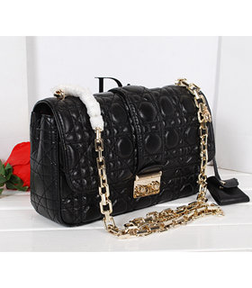 Christian Dior Black Original Lambskin Leather Small Chains Bag