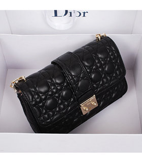 Christian Dior Black Lambskin Leather Small Shoulder Bag