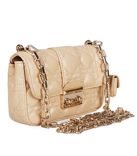 Christian Dior Casual Bag In Apricot Lambskin Leather