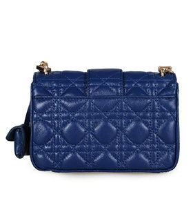 Christian Dior Casual Bag In Blue Lambskin Leather