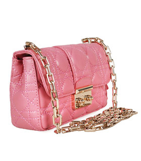 Christian Dior Casual Bag In Pink Lambskin Leather