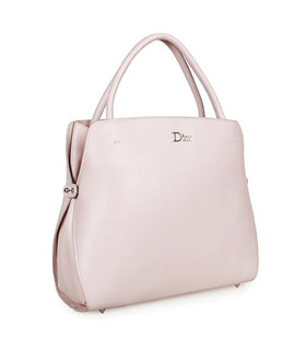 Christian Dior Pink Leather Medium Tote Bag
