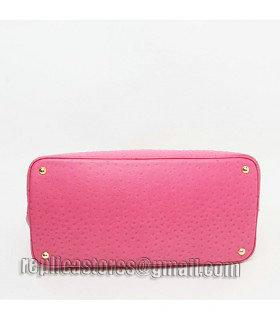 38b1b23a4636 Prada Saffiano Cuir Fuchsia Ostrich Veins Leather Tote Bag - Replica ...