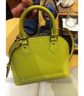 f8ee9ea34b8b Louis Vuitton Epi Leather Alma BB Bag Apple Green - Replica Handbags