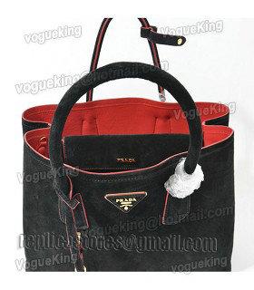 fa0093174d06 ... release date prada saffiano cuir double bag in black original suedered  lambskin leather 1 0913a 64ce1 ...