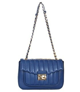 Fendi Iconic Be Baguette Small Bag With Blue Vehicle Line Original Leather