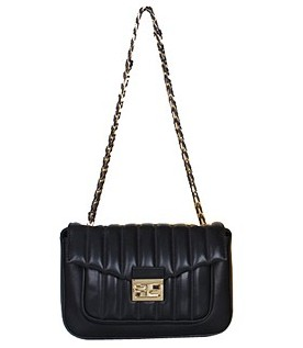 Fendi Iconic Be Baguette Small Bag With Black Vehicle Line Original Leather