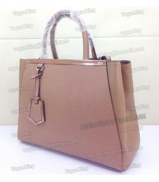 Fendi Apricot Original Leather Medium 2Jours Tote Bag-1