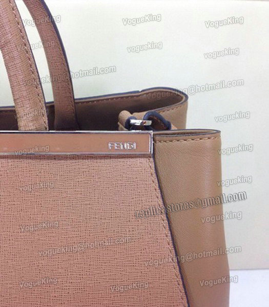 Fendi Apricot Original Leather Medium 2Jours Tote Bag-3