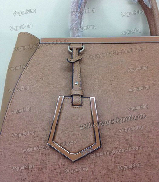 Fendi Apricot Original Leather Medium 2Jours Tote Bag-4