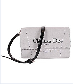 Christian Dior Cruise Grey Original Canvas With Leather Clutch