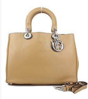 Christian Dior 33cm Diorissimo Bag In Apricot Leather