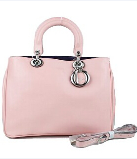 Christian Dior 33cm Diorissimo Bag In Pink Leather