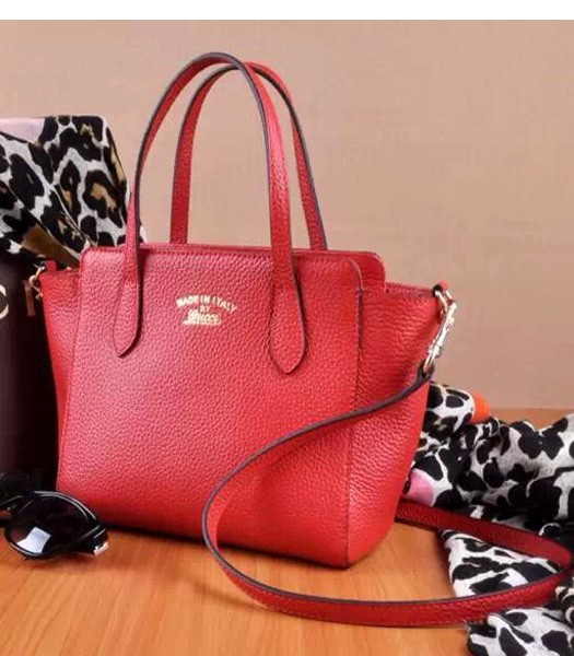 1a27e7ef9af926 Gucci Swing Mini Litchi Veins Leather Top Handle Bag Red - Replica ...