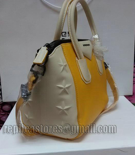 Givenchy Antigona Star Yellow With Offwhite Leather Bag_1