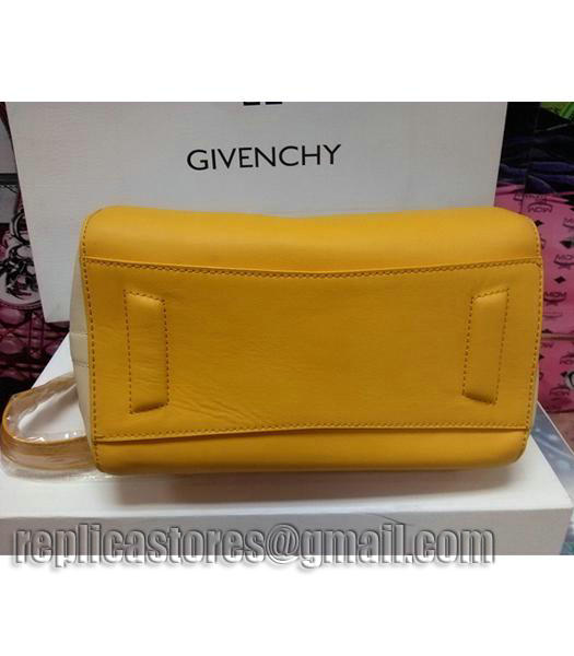 Givenchy Antigona Star Yellow With Offwhite Leather Bag_3