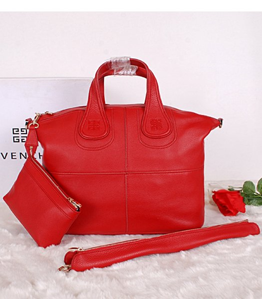 Givenchy Red Original Leather Designer Bag Medium Bag