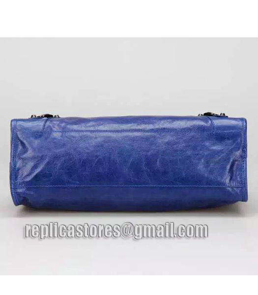 Balenciaga Motorcycle City Bag in Blue Imported Leather Gun Nails_3