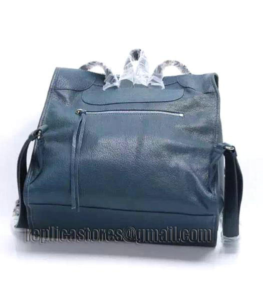 Balenciaga Sapphire Blue Original Lambskin Leather Backpack Silver Nails_2