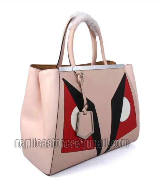 Fendi Color Splice Original Cow Leather Bag Nude Pink Silver Metal-1