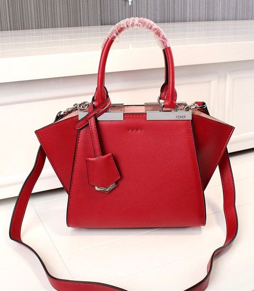 Fendi New Style Mini Red Leather Shoulder Bag