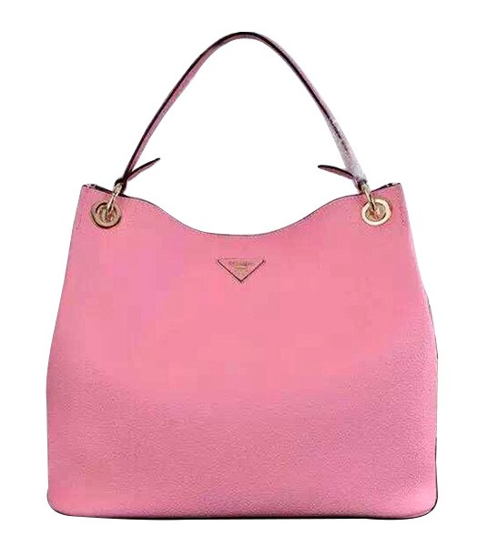 d9f3f7a5f7 Prada Litchi Veins Cow Leather Tote Bag 5124 In Cherry Pink ...