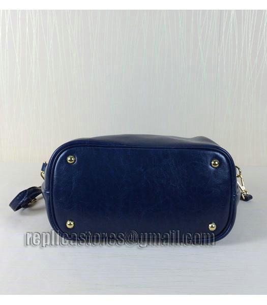374870de1d Prada Oil Wax Leather Tote Bag BN0122 In Sapphire Blue - Replica ...
