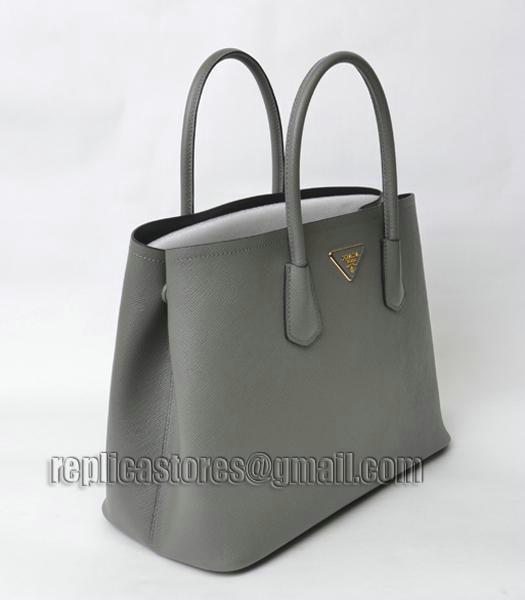 Prada Saffiano Cuir Grey Big Cross Veins Original Leather Tote Bag ...