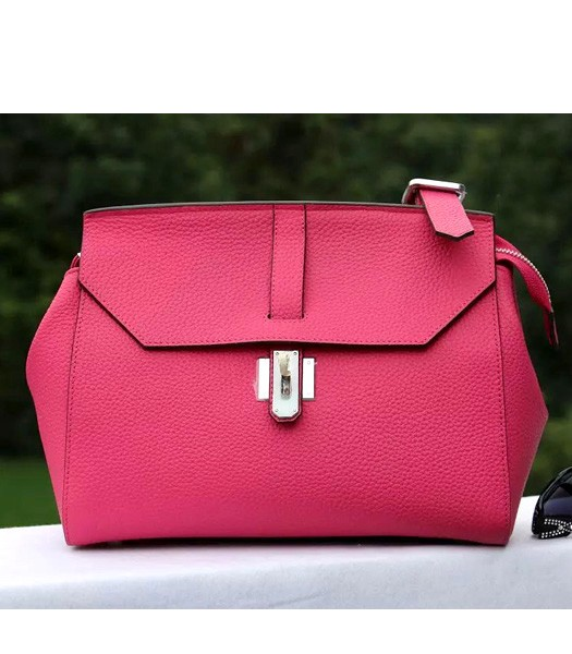 Hermes New Style Togo Leather Messenger Bag Rose Red