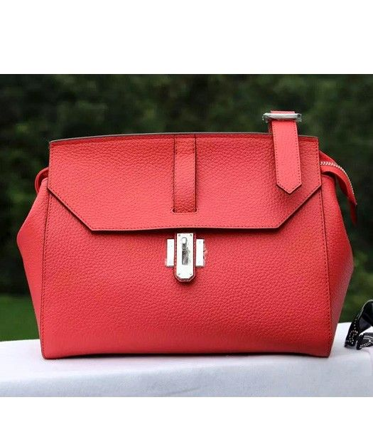Hermes New Style Togo Leather Messenger Bag Watermelon Red