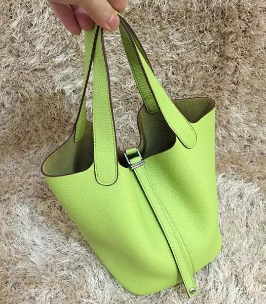 Hermes Picotin Lock MM Bag Original Leather In Apple Green